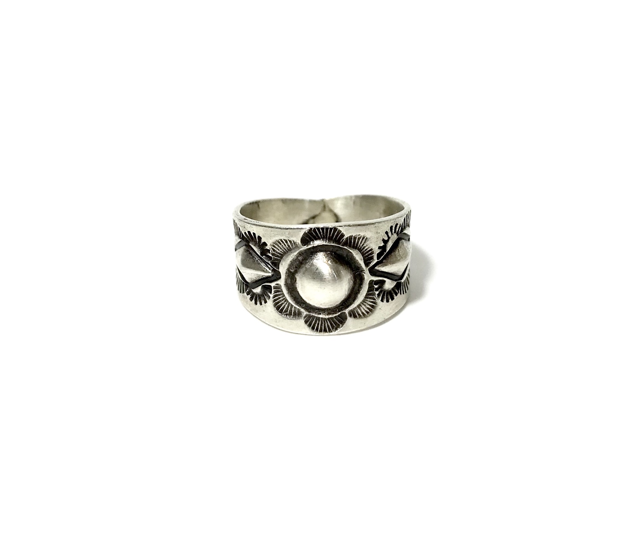 INDIAN JEWELRY  NAVAJO族 スタンプワーク RING SILVER/ナバホ族 リング インディアンジュエリー