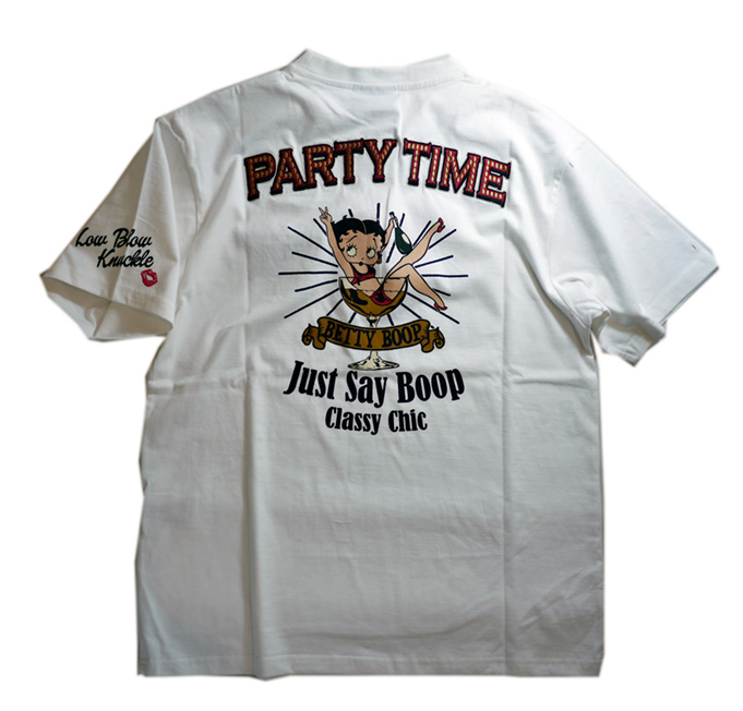 BETTY BOOP × LOWBLOW KNUCKLE  コラボ  Tシャツ [PARTY TIME ]