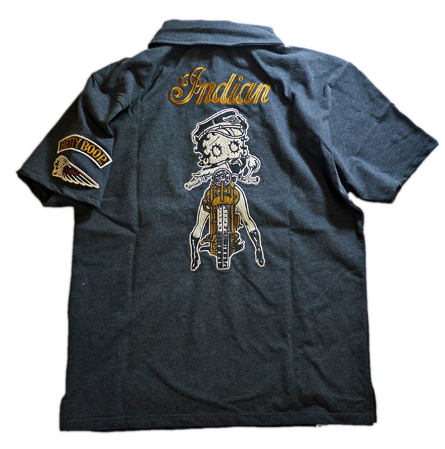 indian motocycle / BETTY コラボ ポロシャツ