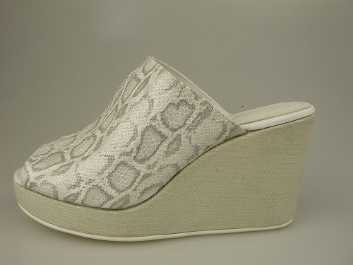 ノーネーム/NO NAME JUANITA SABOT SNAKE WHITE セール【30%OFF】