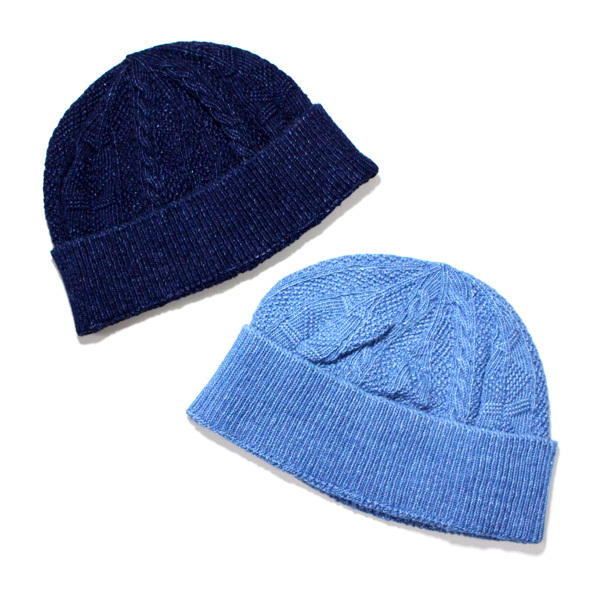 G&F WORKERS / INDIGO GUERNSEY KNIT CAP / ニットキャップ