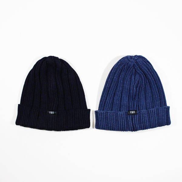 THE HIGHEST END / indigo knit cap / ニットキャップ