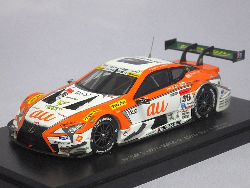 エブロ トヨタ au トムス LC500 SUPER GT500 2017  No.36 K.Nakajima/J.Rossiter ORANGE/WHITE