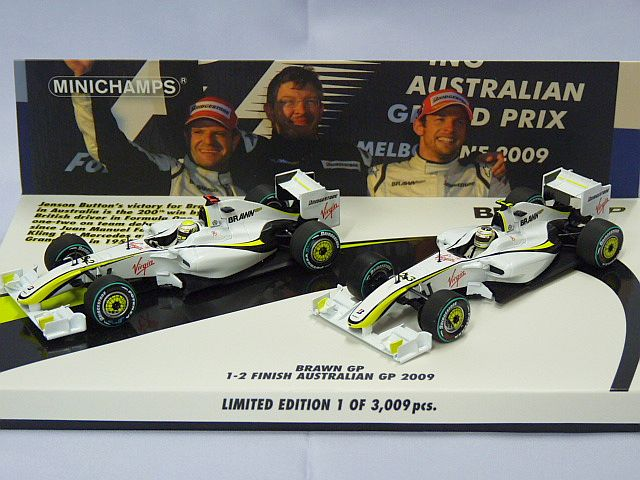 MINICHAMPS BRAWN GP 1-2 finish Australian GP 2009 WHITE
