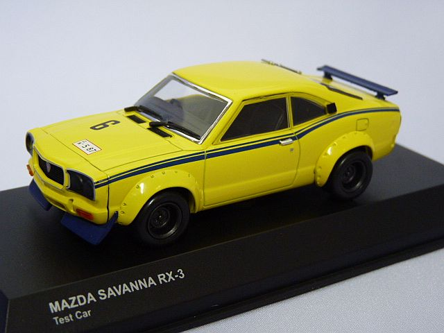 kyosho MAZDA SAVANNA RX-3 Test Car YELLOW