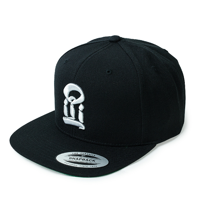 USUGROW / I Logo WHITE ON BLACK SNAPBACK