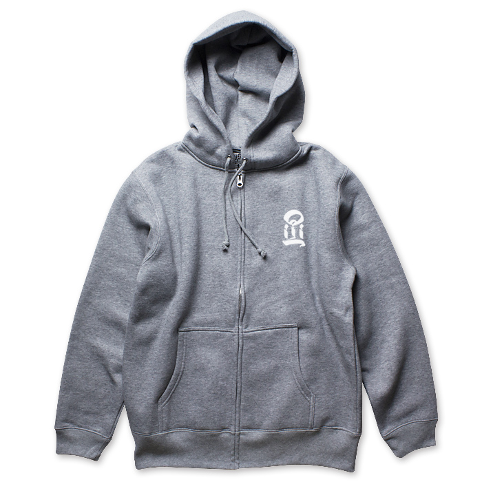 USUGROW / I GREY ZIP UP HOODIE