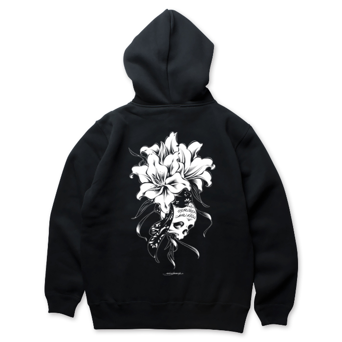 USUGROW / REBIRTH BLACK ZIP UP HOODIE