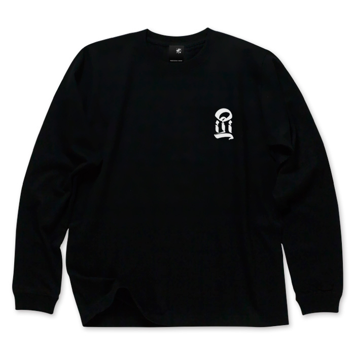 USUGROW / I LONG SLEEVE BLACK TEE