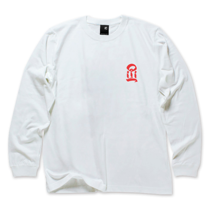 USUGROW / I LONG SLEEVE WHITE TEE