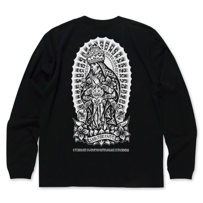 INK 4 LIFE LONG SLEEVE BLACK TEE