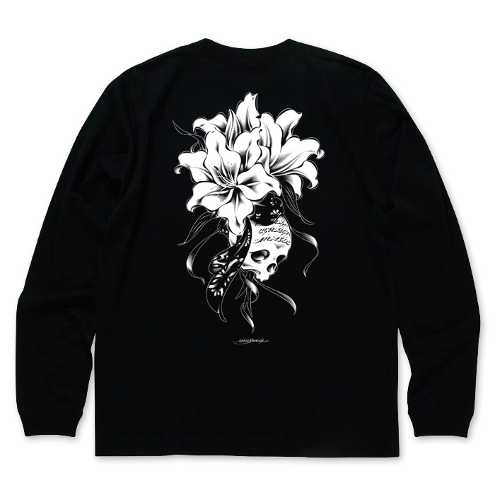 USUGROW / REBIRTH LONG SLEEVE BLACK TEE