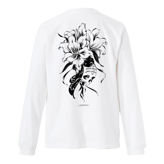 USUGROW / REBIRTH LONG SLEEVE WHITE TEE