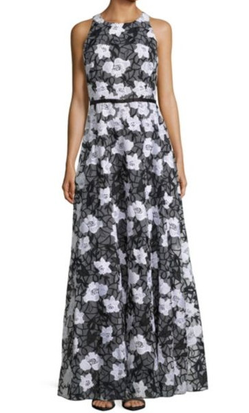 ERIN erin fetherston エリンフェザーストン Camila Floral Embroidered Sleeveless Gown