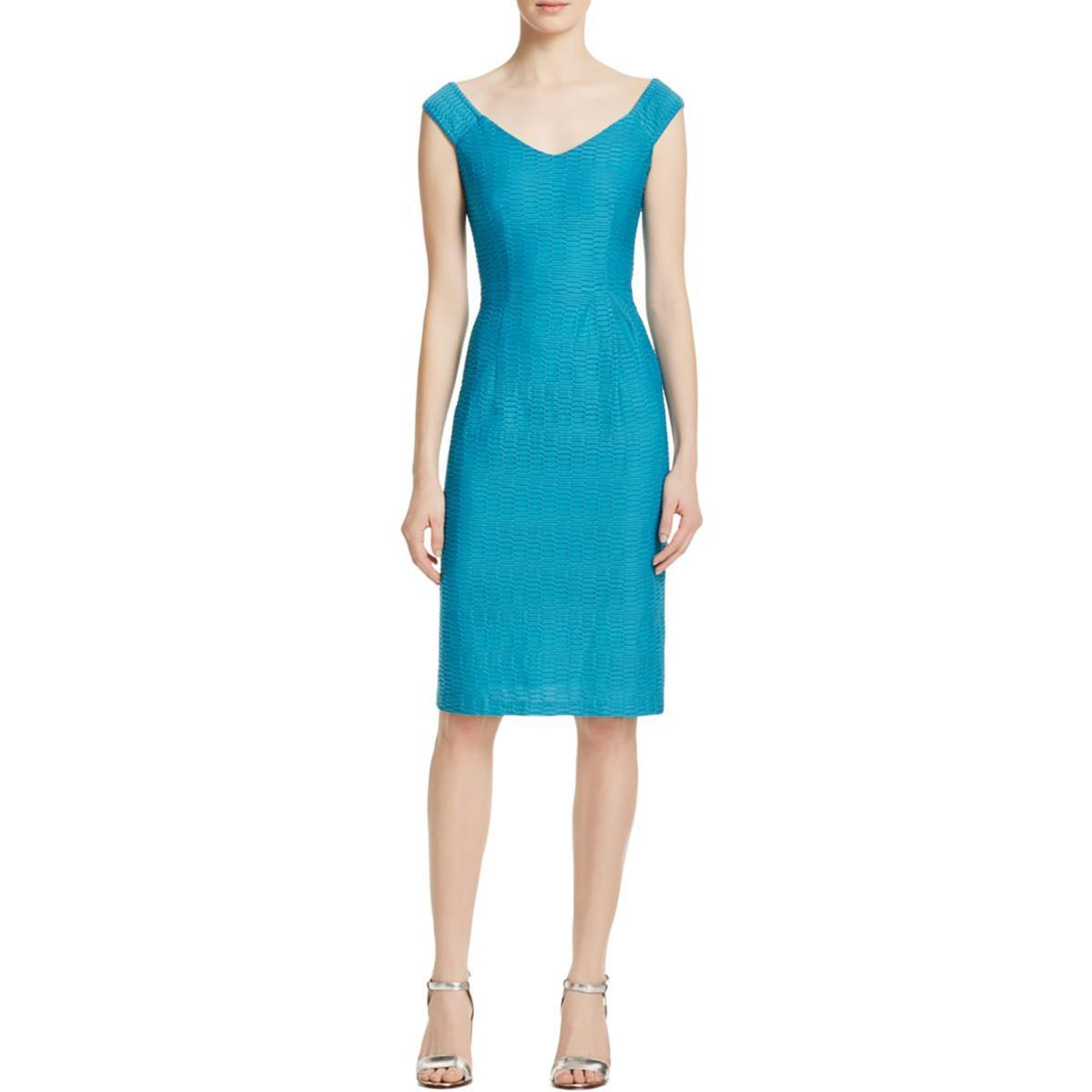 Nanette Lepore ナネットレポー  Off-Shoulder V-Neck Textured Sheath Dress