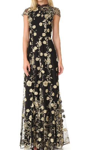 Alice + Olivia アリスアンドオリビア Aaliyah Embroidered Gown