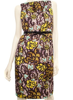 【2009プレフォール】Milly Juniper-Print Sheath Dress