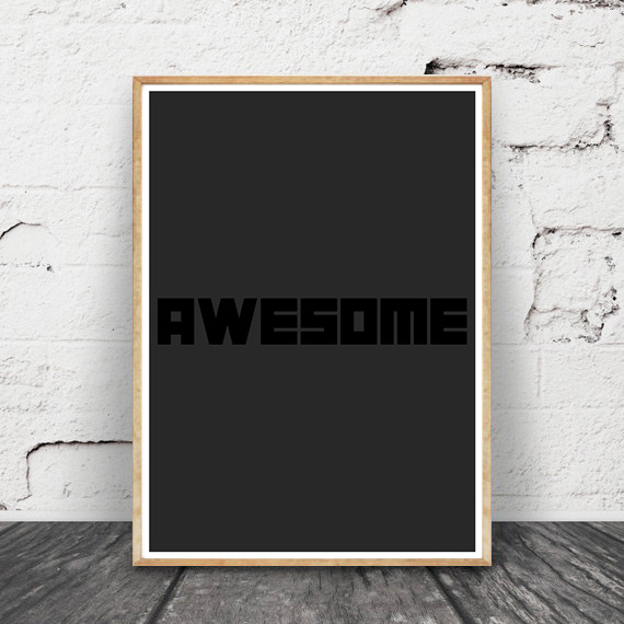 『AWESOME』  ポスター