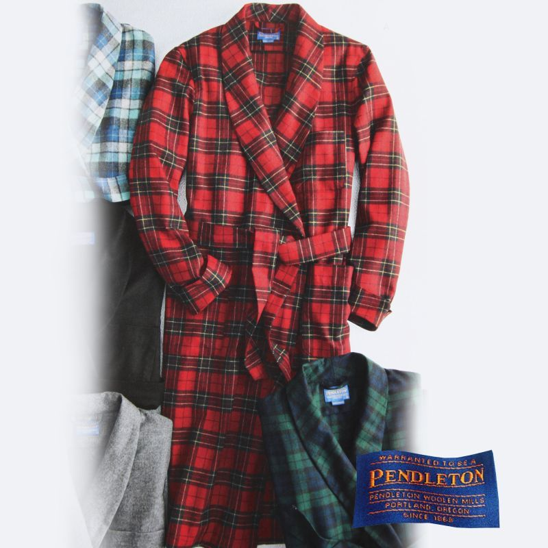 ペンドルトン ガウン/Pendleton Washable Whisper Wool Robe Brodie Tartan