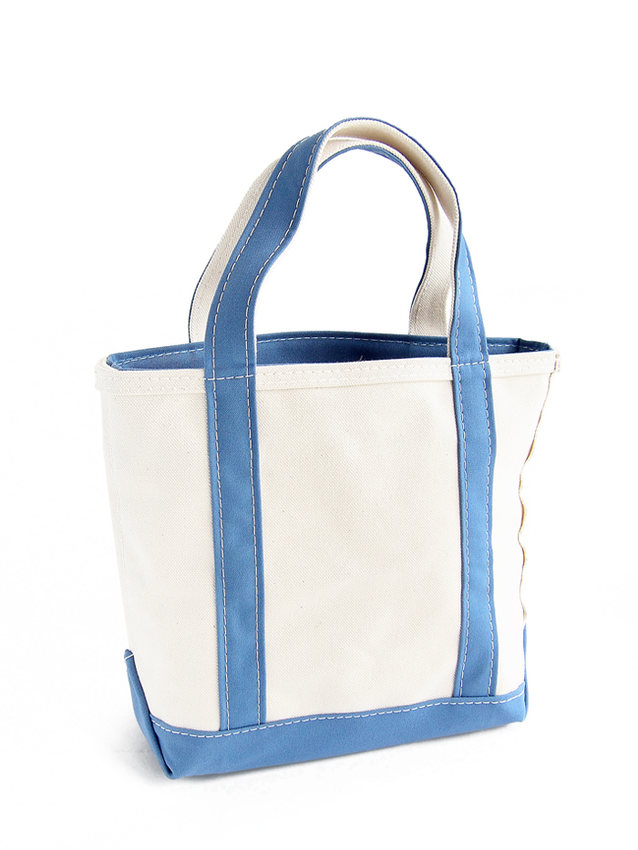 L.L.BEAN boat & tote bag zip-top (Irregular) regular handle MOONLIGHT BLUE
