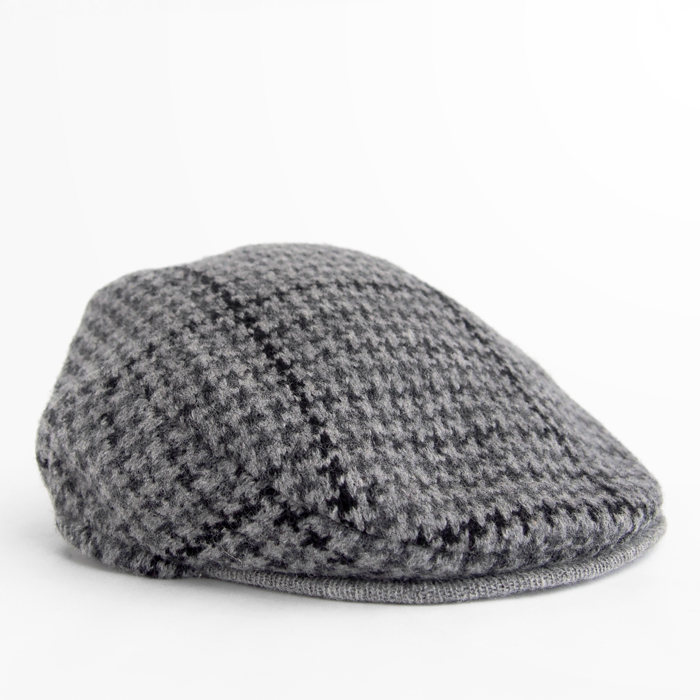POLO RALPH LAUREN drivers cap HOUNDSTOOTH GY