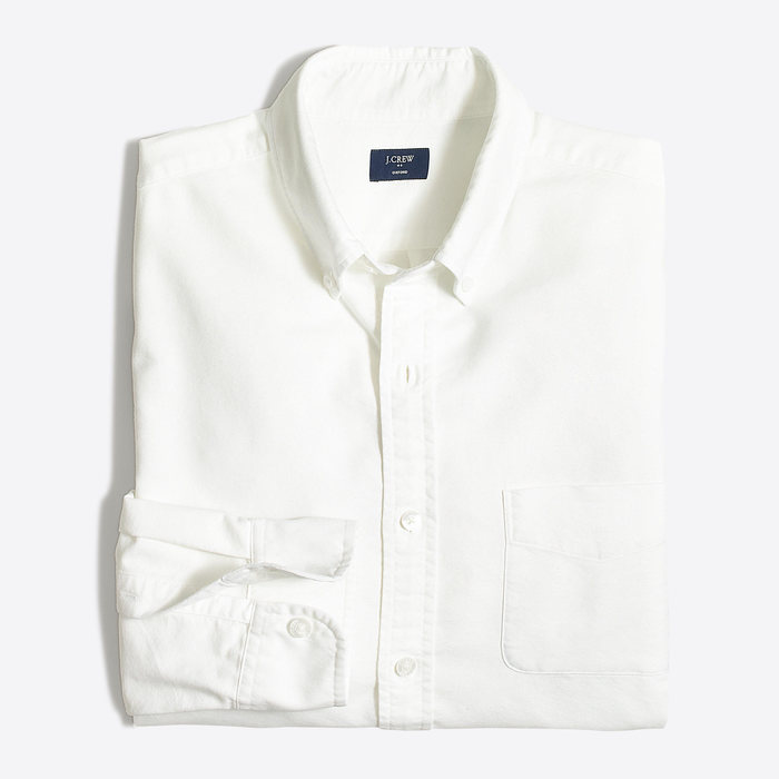 J.CREW slim oxford shirt WHT