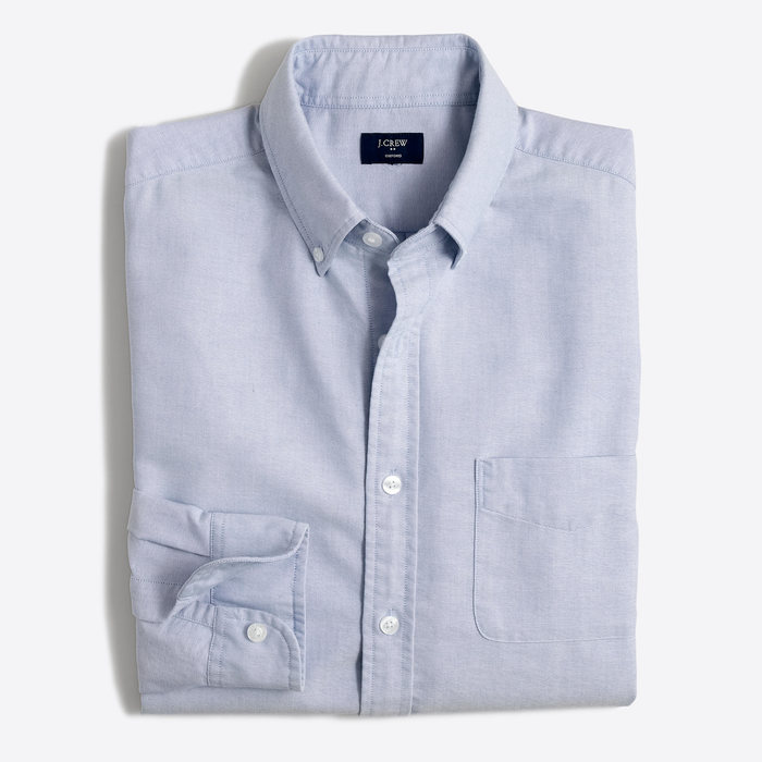 J.CREW slim oxford shirt (XL) BLU