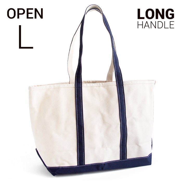 L.L.Bean boat and tote bag open-top (Irregular) long handle L BLUE