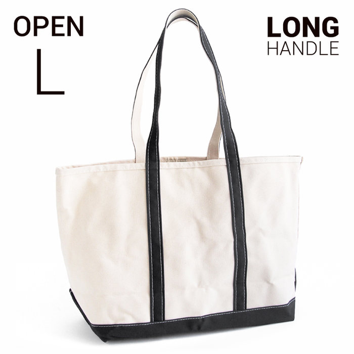 L.L.Bean boat and tote bag open-top (Irregular) long handle L BLACK