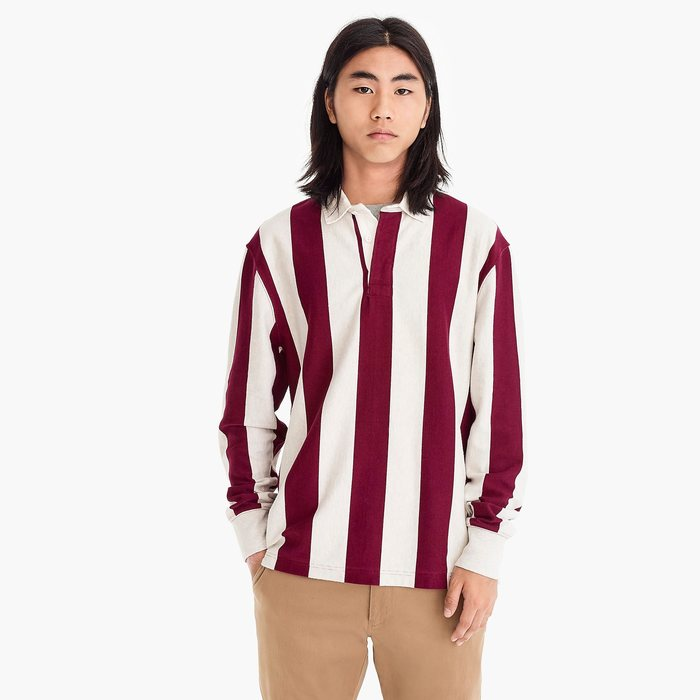 J.CREW 1984 rugby shirt  in charles vertical stripe