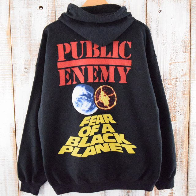 "PUBLIC ENEMY ""FEAR OF A BLACK PLANET"" プリントスウェットジップパーカ"