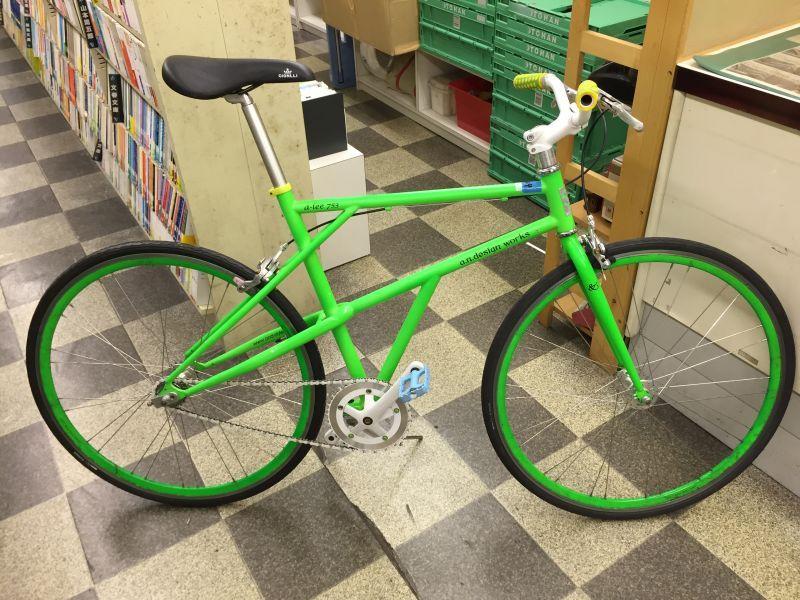 【クリックで詳細表示】〔中古自転車〕a.n.design works(エーエヌデザインワークス) a-lee753 トラックレーサー ピストバイク 700×25C シングル又は固定 ライトグリーン