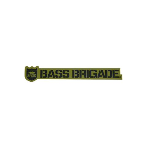 [Bass Brigade/バスブリゲード] SHIELD AND WORDMARK STICKER 【5インチ】 - OLIVE (code:BRD121)