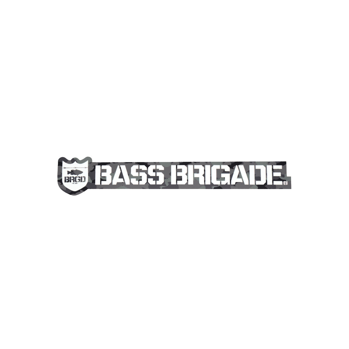 [Bass Brigade/バスブリゲード] SHIELD AND WORDMARK STICKER 【10インチ】 - Carbon Camo (code:BRD128)