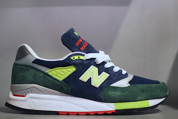 New Balance(ニューバランス) For J Crew 998 Green Navy Yellow Red ABZORB