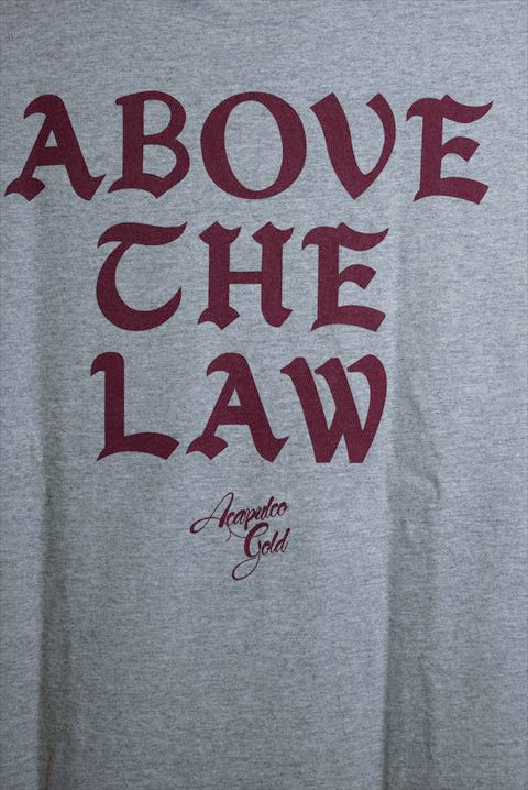 Acapulco Gold (アカプルコゴールド) S/S Above The Law Tee Heather Grey Tシャツ