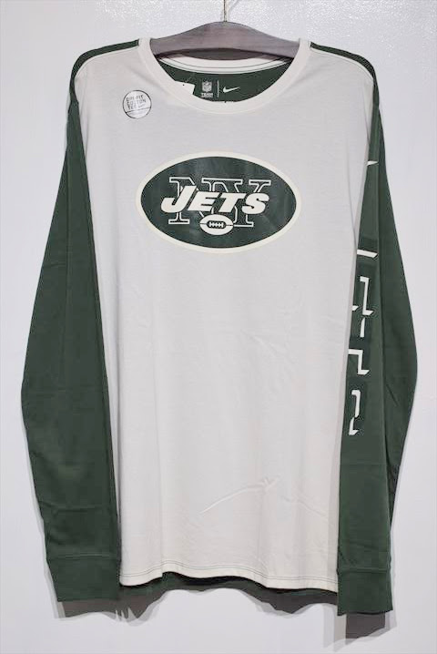 Nike(ナイキ) L/S NewYork JETS Tee Green White ニューヨーク ジェッツ NFL 長袖 Tシャツ