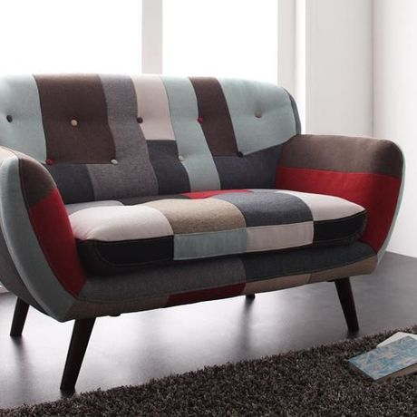 *Patchwork Design Sofa [2P]