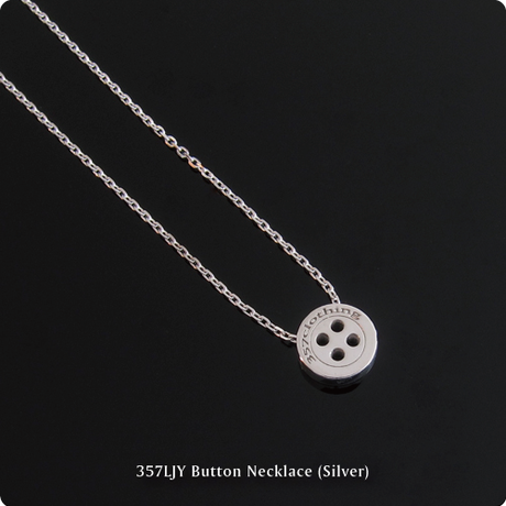 357LJY Button Necklace (Silver)