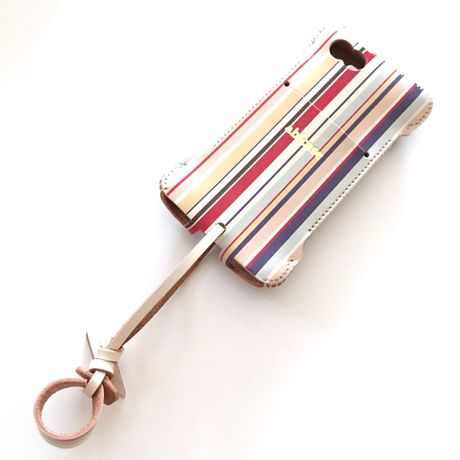 限定品【abicase stripe】 iPhone SE cwj/赤系