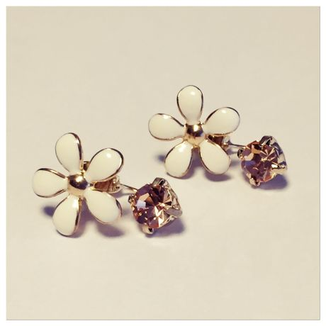 Flower & bijou earrings