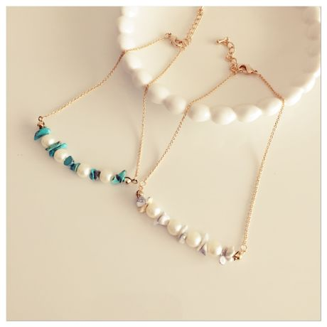 snow pearl  anklet