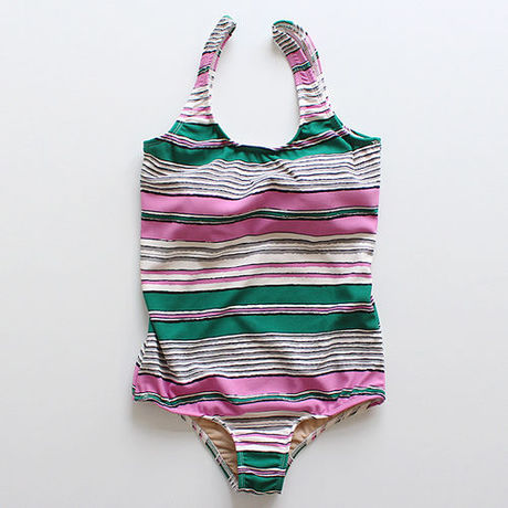 multi border swimsuit