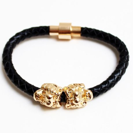 Tiger Leather Bracelet