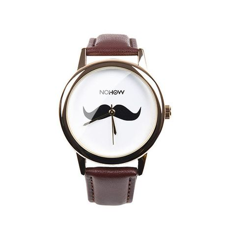 BROWN MOUSTACHE WATCH