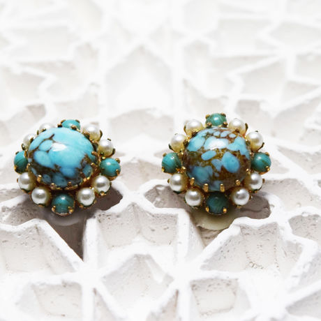 Turquoise Vintage Earrings(France)