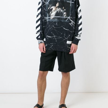 OFF-WHITE C/O VIRGIL ABLOH  /// Marble David with the Head of Goliath 2016 S/S - マーブル柄パーカー(ゴリアテ)