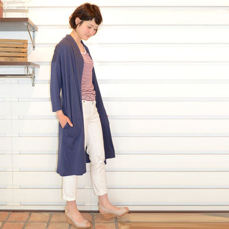 A la mode Marche◇~SALE~ Bamboo&Cottonロングトッパー◇