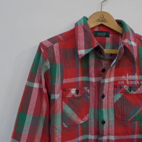 a look on books remake stencil heavyflannel shirt