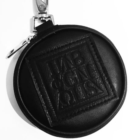 PU Circle Coin Case [ 5YMBOL ] BLACK - PUサークルコインケース ブラック